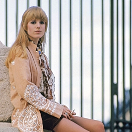 Marianne Faithfull by Benjamin Auger, 1966