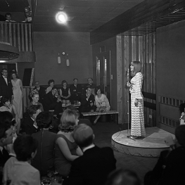 Marianne performing at the Blue Nile Club in Coventry 28th April 1965