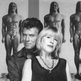 Marianne Faithfull and David Bowie by Brian Aris 1991