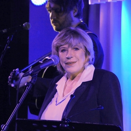 Marianne Faithfull performing at Quaglino's, 2014 by David M. Benett