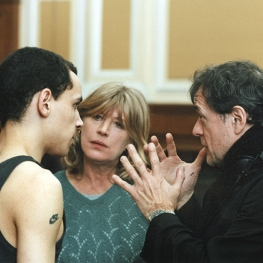 "Marianne Faithfull with Patrice Chareau on set of ""Intimacy"" 2001"
