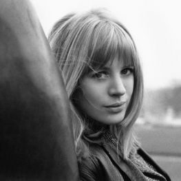 Marianne Faithfull at Les Invalides Paris by Jacques Haillot 1965