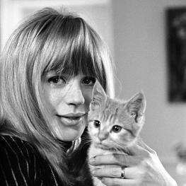 Marianne Faithfull in her London flat, 1965 by John Hoppy Hopkins