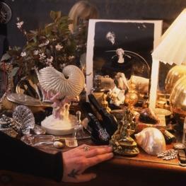 Marianne Faithfull at her dressing table by Mark Arbeit 1995