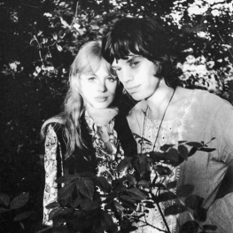 Marianne Faithfull and Mick Jagger by Michael Cooper 1967