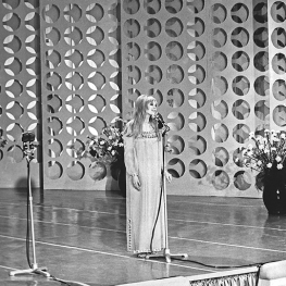 Marianne Faithfull at San Remo Music Festival 1967