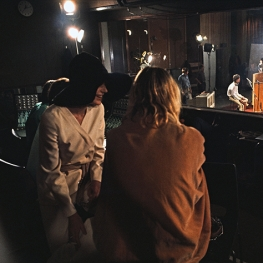 Marianne Faithfull and Anita Pallenberg filming Sympathy Fo The Devil