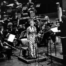 Marianne Faithfull performing the Seven Deadlly Sins at the Salzburg Festival in Austria 1998