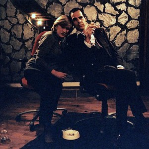 Marianne with Nick Cave when they worked together on Before the Poison.