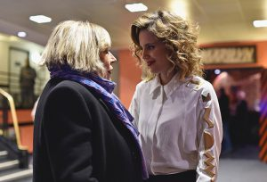 Marianne  and Anna Calvi  backstage at L'Olympia on 20th November 2014 Photo by Pascal Le Segretain