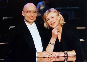 Marianne at the Vienna Konzerthaus with Dennis Russell Davies