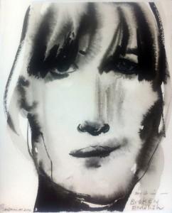 Marlene Dumas' portrait of Marianne Faithfull