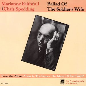 "Cover of the promo 7"" Marianne Faithfull And Chris Spedding 'Ballad Of The Soldier's Wife'"